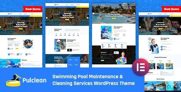 Pulclean - Swimming Pool Maintenance WordPress Theme - Business Corporate