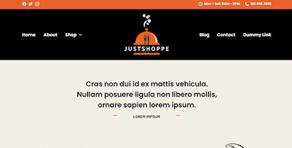 Justshoppe - Elementor Cake, Bakery & Food WordPress