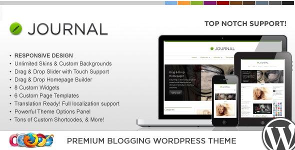 WP Journal Responsive WordPress Theme - Blog / Magazine WordPress
