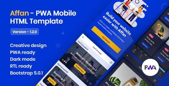 Affan - PWA Mobile HTML Template