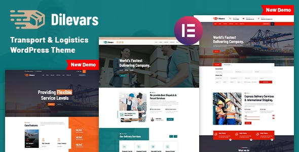 Dilevars - Transportation & Logistics WordPress Theme