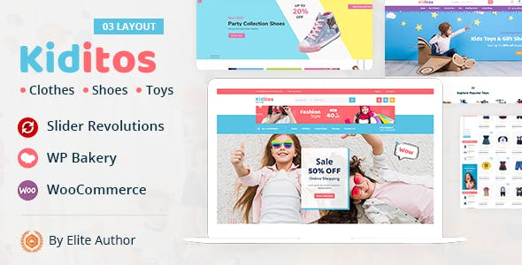 Kiditos - Baby and Kids Multi Store WooCommerce Theme