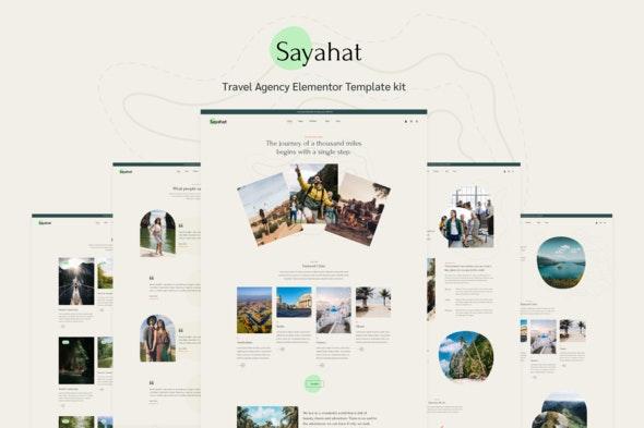 Sayahat - Travel Agency Elementor Template kit - Travel & Accomodation Elementor