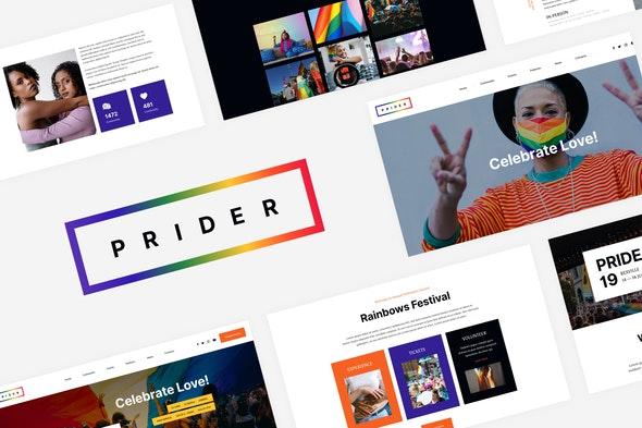 Prider - LGBTQ & Gay Rights Festival Template Kit - Non-Profit & Religion Elementor
