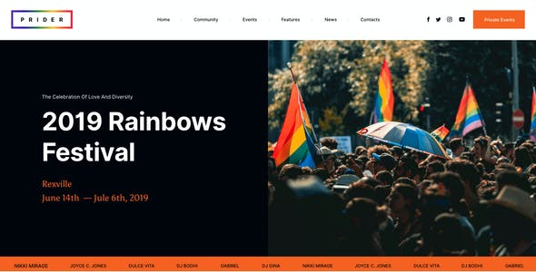 Prider - LGBTQ & Gay Rights Festival Template Kit