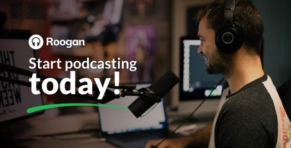 Roogan - Podcast Theme - Personal Blog / Magazine