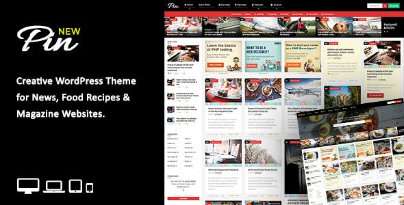 Pin = Pinterest Style / Personal Masonry Blog / Front-end Submission