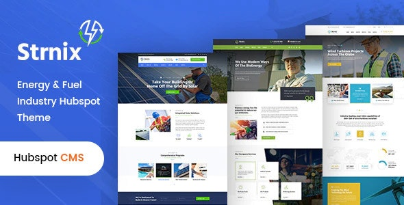 Strnix - Solar and Green Energy HubSpot Theme - HubSpot CMS Hub CMS Themes