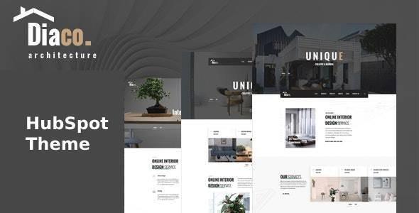 Diaco - Architecture & Interior Design HubSpot Theme - HubSpot CMS Hub CMS Themes