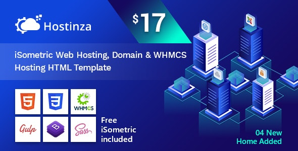 Hostinza - Isometric Web Hosting, Domain and WHMCS Html Hosting Template - Hosting Technology