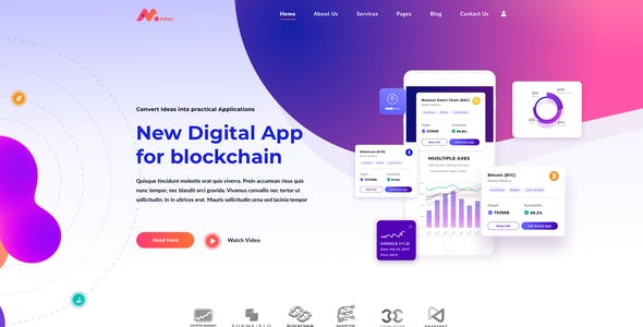 Moneer – Cryptocurrency Template for XD