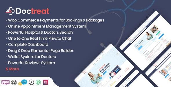 Doctreat v1.4.0 – Doctors Directory WordPress Theme