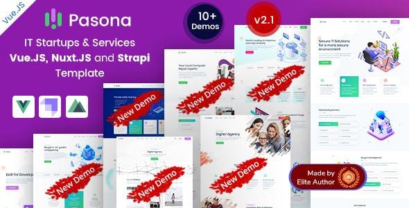 Pasona - Vue Nuxt Strapi IT Startup & Services Template