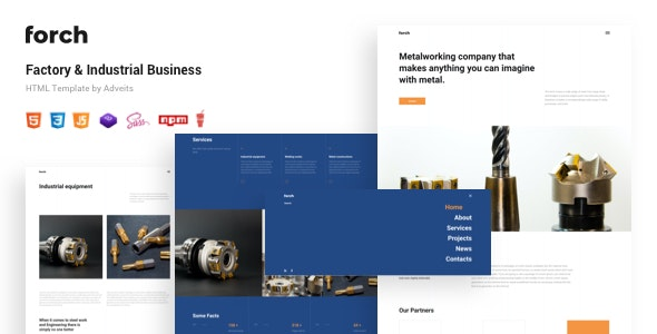Forch - Factory & Industrial Business HTML Template - Business Corporate
