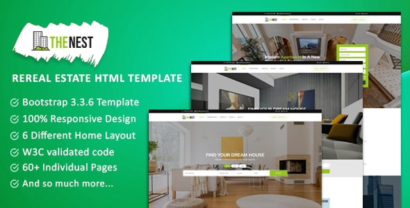 NEST - Real Estate Template - Business Corporate