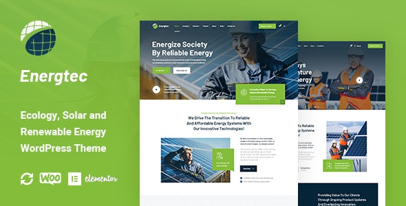 Energtec - Solar and Wind Energy WordPress Theme - Business Corporate