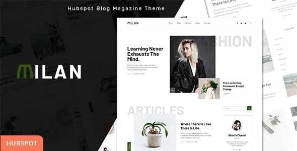 Milan - Blog and Magazine HubSpot Theme - Creative HubSpot CMS Hub