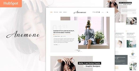 Anemone - Blog and Magazine HubSpot Theme