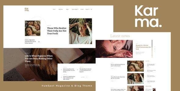Karma - HubSpot Magazine Theme - Blog / Magazine HubSpot CMS Hub