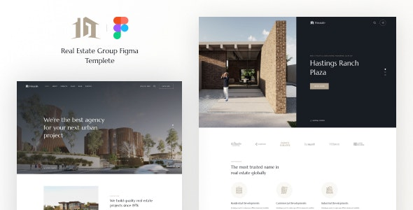 Housale - Real Estate Group Figma Template - Business Corporate