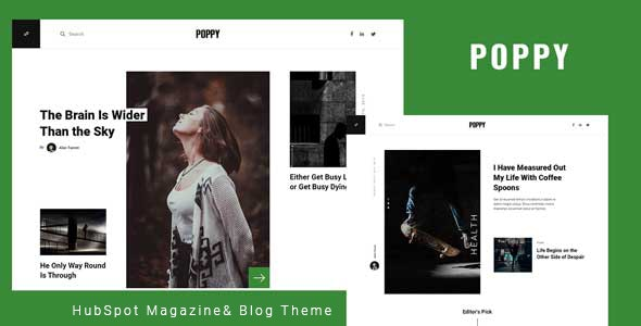 Poppy - Blog and Magazine HubSpot Theme - Blog / Magazine HubSpot CMS Hub