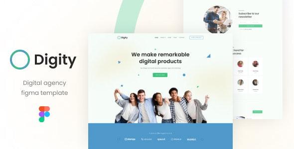 Digity - Digital Agency Figma Template - Creative Figma