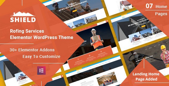 Shield - Roofing Service Elementor WordPress Theme - Business Corporate