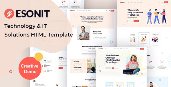 Esonit - IT solutions HTML Template