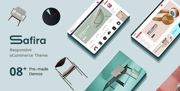 Safira Premium Responsive Magento 2 - Shopping Magento