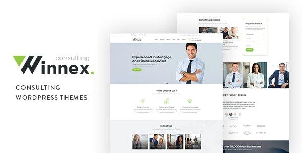 Winnex - Business Consulting WordPress Themes - Business Corporate