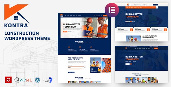 Kontra - Construction and Building WordPress Theme - Business Corporate
