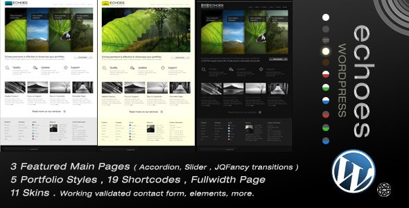 Echoes | Wordpress Theme - Portfolio Creative