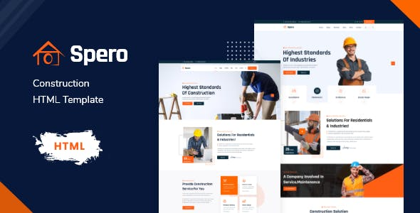 Spero - Construction Renovation HTML Template