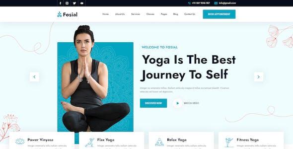 Fosial - Yoga & Meditation PSD Template