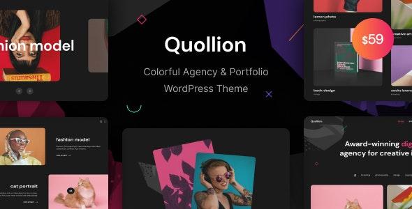 Quollion - Colorful Agency & Portfolio WordPress Theme - Portfolio Creative