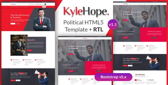 KyleHope - Political Campaign & Activities HTML Template