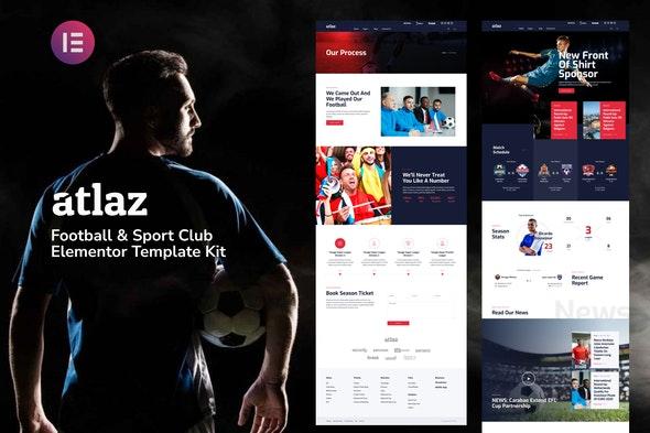 Atlaz - Football & Sports Club Elementor Template Kit - Sport & Fitness Elementor