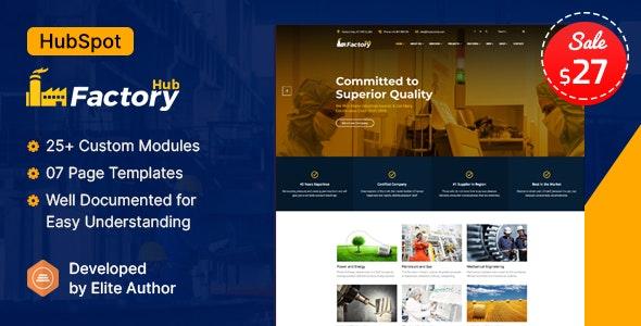 Factory HUB - Manufacturing Industry HubSpot Theme - Corporate HubSpot CMS Hub