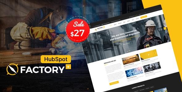 Factory Plus - Industrial Business HubSpot Theme - Corporate HubSpot CMS Hub