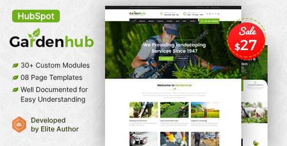 Garden HUB - Lawn & Landscaping HubSpot Theme - Corporate HubSpot CMS Hub