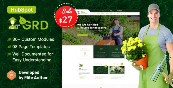 GRD - Lawn & Landscaping HubSpot Theme - Corporate HubSpot CMS Hub