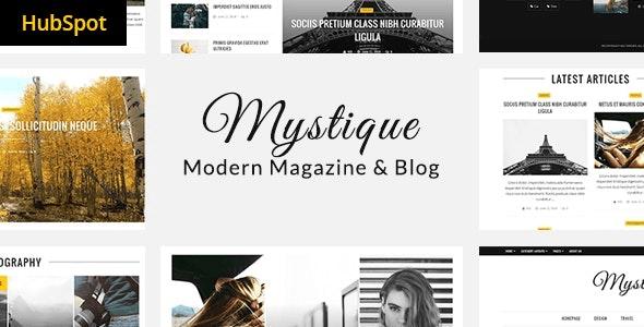 Mystique - Hubspot Theme for Blog and Magazine Purpose - Blog / Magazine HubSpot CMS Hub
