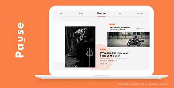 Pause - HubSpot Theme for Magazine and Blog - Blog / Magazine HubSpot CMS Hub