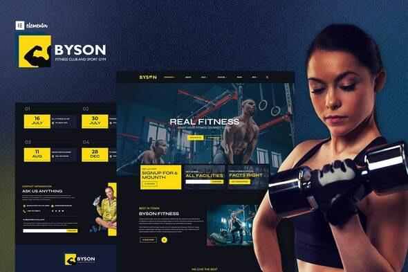 Byson - Fitness & Gym Elementor Template Kit - Sport & Fitness Elementor
