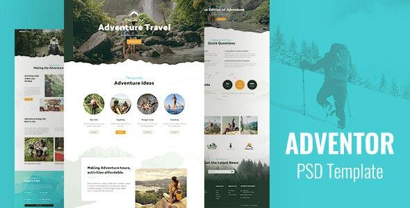 Adventor - Travel Shop PSD - Travel Retail