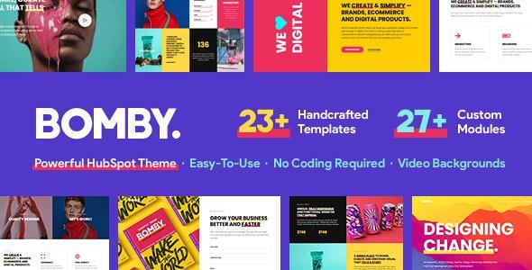 Bomby - Creative Multi-Purpose HubSpot Theme - Creative HubSpot CMS Hub