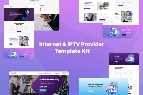 MaxiNet - Internet & IPTV Provider Elementor Template Kit - Technology & Apps Elementor