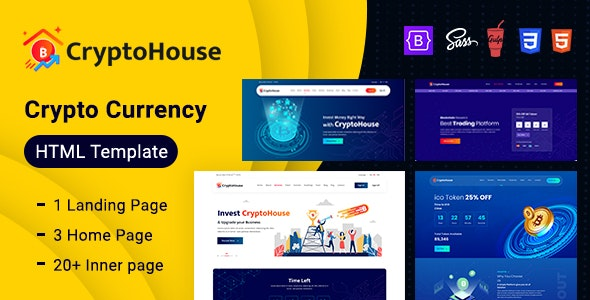 CryptoHouse - Minimal & Professional Crypto Currency HTML Template - Corporate Site Templates
