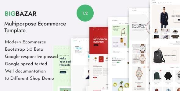 BigBazar - Multipurpose eCommerce HTML Template - Shopping Retail
