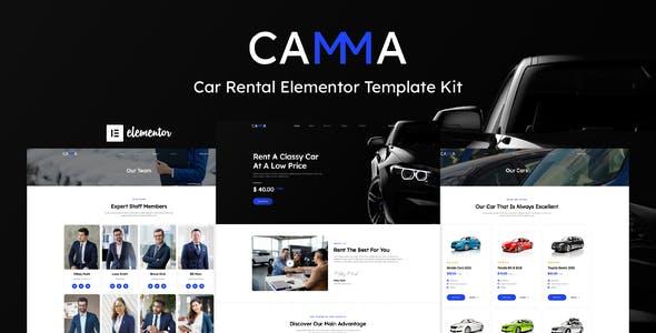Camma - Car Rental Elementor Template Kit